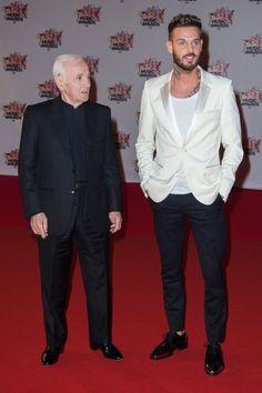 Pin for Later: Stars Françaises et Stars Internationales Se Mélangent Lors des NRJ Music Awards Charles Aznavour et Matt Pokora