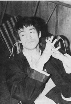 Bruce behind the scenes of The fist of fury