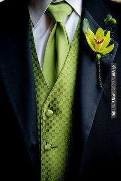 Groomsmen except in Bridesmaid's Dress Color -Dark Turquoise | VIA #WEDDINGPINS.NET