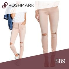 """Joe's Jeans skinny ankle jeans Joe's Jeans skinny ankle jeans.  Color blush.  - Zip fly with button closure - Belt loops - 5 pocket construction - Allover solid color - Distressed detail - Skinny leg - Approx. 9"""" rise, 28"""" inseam. 93% cotton, 6% polyester, 1% elastane.  Brand new with tags still attached.   No trades.  Price is firm. Joe's Jeans Jeans"""