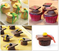 College Graduation Party Decorations | These yummy graduation caps look pretty easy to make!