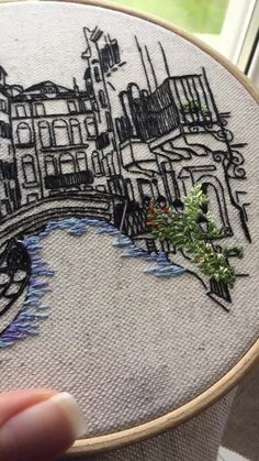 Embroidery of Venice Italy. Join our free embroidery resource center now ! Embroidery of Venice Italy. Join our free embroidery resource center now ! Floral Embroidery Patterns, Hand Embroidery Videos, Blackwork Embroidery, Embroidery Stitches Tutorial, Creative Embroidery, Simple Embroidery, Hand Embroidery Stitches, Embroidery Hoop Art, Embroidery Techniques