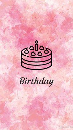 Pink Instagram, Instagram Logo, Instagram Story Ideas, Birthday Background Wallpaper, Happy Birthday Wallpaper, Birthday Icon, Pink Birthday, Birthday Nails, It Is My Birthday
