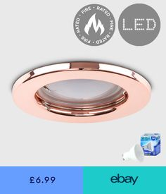 MiniSun Ceiling Lights & Chandeliers Home, Furniture & DIY Recessed Ceiling, Ceiling Lights, Chandelier Lighting, Chandeliers, Spotlight, Copper, Bulb, Fire, Led