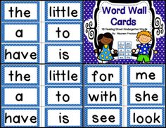 FREE Reading Street-Kindergarten High Frequency Word Wall cards - 40 cards