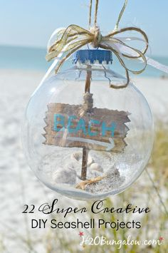 22 Creative DIY Seashell Projects You Can Make | H2O Bungalow - Featured on #HomeMattersParty 99