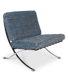 Take a look at this Dark Denim Barcelona Chair on zulily today!