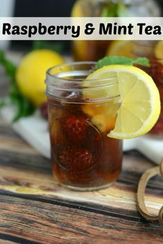 Cool and refreshing Raspberry & Mint Tea. Perfect summer recipe