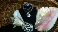 Conch shell Jewelry @ balandoorganicdesign.com