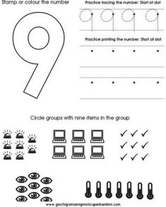 Schede didattiche per imparare a scrivere i numeri