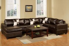I'll take an espresso color leather sectional...I'm comfort over style in the family room