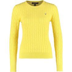 GANT Sweter clear yellow zalando zolty bawełna