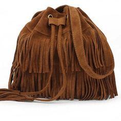2016 Retro Faux Suede Fringe Women Bag Messenger Bags New Handbag Tassel Shoulder Handbags Crossbody Gift Free Shipping N513