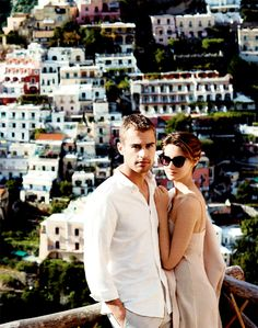 hahahha why are they so perfect // Theo James and Shailene Woodley// this is their honeymoon picture