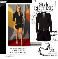 """""""Black Is The New Chic For Summer."""" by irishrose1 ❤ liked on Polyvore"""