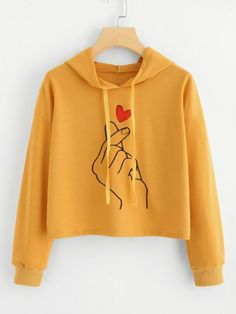 c15d9ff986e Shop Plus Hand Print Hooded Sweatshirt online. SHEIN offers Plus Hand Print  Hooded Sweatshirt   more to fit your fashionable needs.