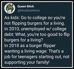 I agree with the problem, but not the proposed solution. If you have a college degree and can't make a living wage, the college should have to pay off your student loan debt.