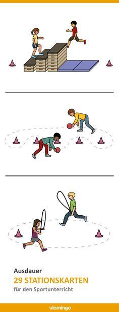 Endurance training - 29 stations or exercises for physical education - Sportunterricht - Endurance Workout, Endurance Training, Higher Education, Physical Education, Social Trends, Educational Websites, Kids Sports, Social Platform, Physics