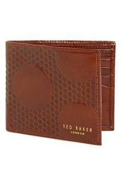 849b0a41c4f2df Men s Ted Baker London Embossed Leather Bifold Wallet - Beige Ted Baker  Wallet