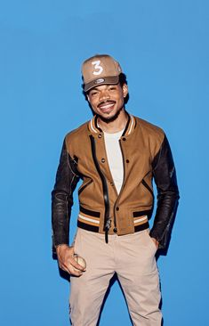 Chance the Rapper: Every kind of khaki in one outfit.