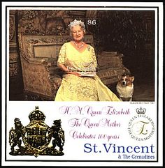 The Queen Mum with one of her beloved Corgis