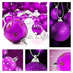 Image detail for -Collage Of Purple Christmas Decorations On Dif...