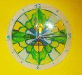 Uhr aus Glas basteln