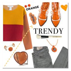 """Orange Crush"" by adduncan ❤ liked on Polyvore featuring Siwy, Hermès, Charlotte Olympia, Philosophy di Lorenzo Serafini, Bobbi Brown Cosmetics, STELLA McCARTNEY, Black & Sigi, Bling Jewelry, orange and Fall2016"