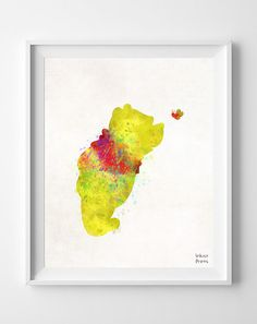 Disney Pooh Watercolor Painting Print Nursery by InkistPrints, $11.95 - Shipping Worldwide! [Click Photo for Details]