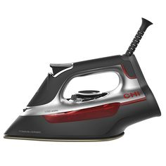 Achieve wrinkle-free linens and clothing with the premium CHI Manual Iron. Featuring a scratch-resistant titanium infused sole plate for smooth gliding, this iron boasts 311 holes for superior steam performance and easy-to-read temp controls. Steam Iron Reviews, Best Steam Iron, Best Iron, Professional Outfits, Chi Hair Products, Live And Learn, Red Bedding, How To Iron Clothes