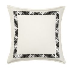 Ecoaccents Greek Key Cotton Canvas Pillow