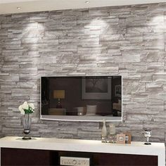 33.99$  Buy now - http://ali07p.shopchina.info/go.php?t=32749297588 - Beibehang  Retro embossed wall paper brick wall volume modern white 3d effect brick  wallpaper for walls 3d living  background   #magazineonline