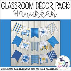 Do you have a space on your classroom wall or door where you need that perfect piece of seasonal or holiday decor? Look no further! This Hanukkah Banner Pack has got you covered. Its fun and fresh design will bring the perfect Hanukkah-touch to your classroom!