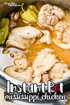 Mississippi Chicken Electric Pressure Cooker Are you wondering how to make Mississippi Chicken in your Instant Pot? Our Mississippi Chicken Electric Pressure Cooker recipe shows you how to make our popular dish in your choice of crock pot or slow cooker. Power Cooker Recipes, Pressure Cooking Recipes, Crock Pot Cooking, Crockpot Recipes, Chicken Recipes, Ip Chicken, Chicken Thighs, Turkey Recipes, Pressure Cooker Desserts