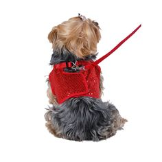 Anima Sequined Jersey Dog Vest Harness, Large, Red -- Click image to review more details. (This is an Amazon affiliate link)