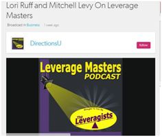 Carrie trucker and JV Queen Gina Gaudio-Graves host of the Leverage Masters Radio Show interviews Mitchell Levy, the AHA guy, author , speaker and known entrepreneur on their show. Leverage Masters Radio helps you Put Lifestyle Back in Business by getting more done, with less effort, in shorter time so you can build a bigger business that makes a larger impact and lets you live the life of your dreams! Listen to this podcast and learn more about business…