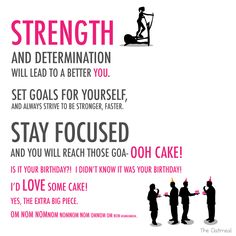 Strength and determination will lead to a better you