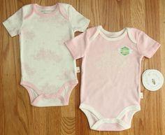 Burt's Bees Baby Girl Bodysuit 2 Piece Set~ Pink & Ivory~Trees, Bees & Honeypots #BurtsBeesBaby #BabyGirl