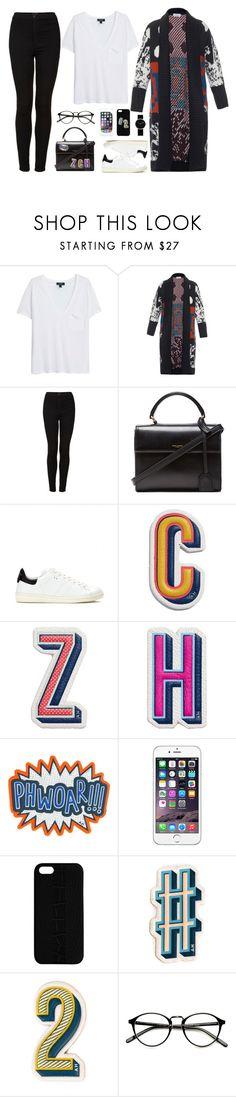 """#23"" by zuzu-chmielinska ❤ liked on Polyvore featuring moda, MANGO, Tak.Ori, Topshop, Yves Saint Laurent, Isabel Marant, Anya Hindmarch i Maison Takuya"