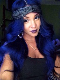 Midnight Blue Hair Weave