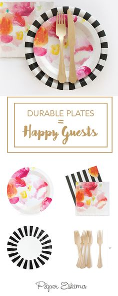 Making unique celebrations easier to throw, Paper Eskimo's high-quality designer partyware gives you more time to do the things you love. Perfect for girl baby showers, modern birthday party or chic bridal shower ideas. Shop this look at Papereskimo.com