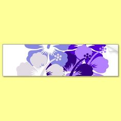 mixed blue hibiscus design bumper stickers by thehibiscus