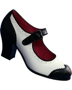 1940's Aris Allen Women's Dance Shoes Wingtip Heeled Swing Mary Jane $69.95 Store: DanceStore.com