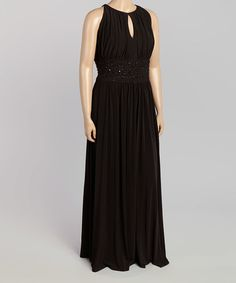 Another great find on #zulily! Black Embellished Keyhole Dress - Plus by Jessica Howard #zulilyfinds