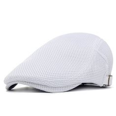 cd9ce913d18 Men s Casual Beret Cap Spring And Summer Breathable Lightweight Net Cap  Adjustable Solid Color Cap - NewChic