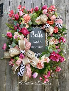 Boutique Floral Grapevine by Holiday Baubles