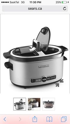 Architect Series Slow Cooker With Easy Serve Lid With 4 Temperature  Settings With Fast Shipping And Top Rated Customer Service.