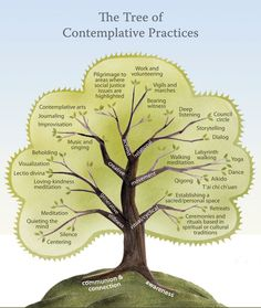 An illustration of contemplative practices showing the breadth of meditation and mindfulness within traditions. It certainly opens up one's understanding about how these disciplines take root and manifest themselves in our lives, non?