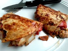 Strawberry Balsamic Chicken And Bacon Quesadillas