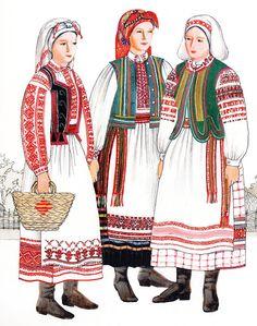 FolkCostume&Embroidery: Costume of West or Volyn' Polissia, Ukraine Tribal Costume, Folk Costume, Costumes, Ukrainian Dress, Ukrainian Art, Folk Clothing, Historical Clothing, Ukraine, Fort Ross